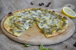 Cheese and Zaatar Manakish , how ever you like it.