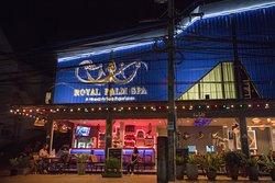 royal palm spa at night