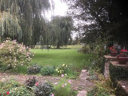 The garden was beautiful despite awful weather