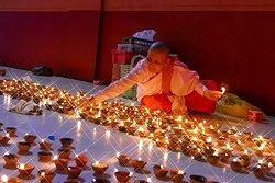 Lighting festival in Dawei,Myanmar.