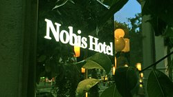 Ther restaurant is both inside and outside the Nobis Hotel
