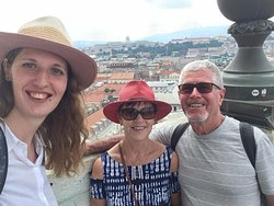 With my guests on the top of the city discovering Budapest on The walking Pest tour.