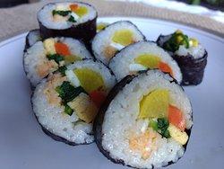 #6. Cheese Gim-bob(Korean rice rolls)