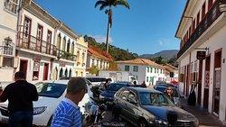Centro histórico de Ouro Preto, com seu casario colonial.