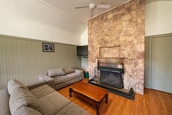 Log Cabin - Living Area & Fire place
