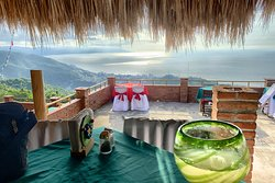 Check out this view.  Beautiful margaritas to sip while admiring the view!