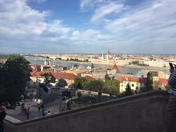 City View from Fisherman's Bastion in Budapest