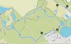 The yellow trail through the Graasten forest. Distance 6,75 kilometer and height gain 90 meter.
