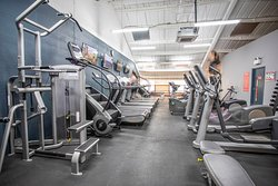 The first floor at RP Fitness has a large range of cardio equipment