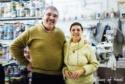 Nadia Vianello and her husband, Pietro
