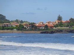 Vista del pueblo desde la playa