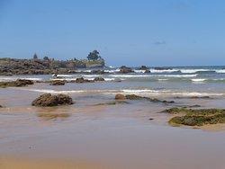 La playa en bajamar