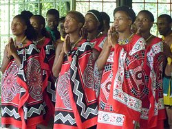 Dance group in Mantenga Cultural Villge - Swaziland