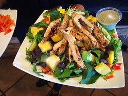 Aloha salad with grilled chicken