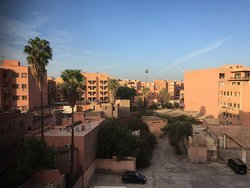 View of the Red City from our room.