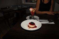 Salted caramel Cheesecake and Strawberry Sundae