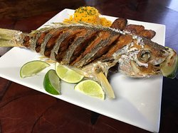 Whole Fresh Fried Snapper
