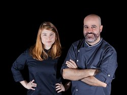 Unique cuisine by a chef duo, hosting in an artsy Tel Aviv neighborhood.