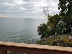 Beautiful view of Lake Erie from the common/living area