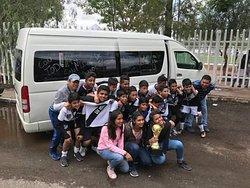 Transporte de fin de semana, los chicos ganaron el torneo. Reservaciones en www.besturmexico.com