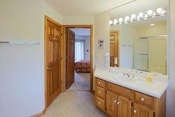 En Suite Bathroom at Glidden Lodge Beach Resort in Door County, WI