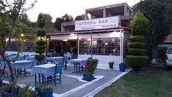 The Taverna offers outdoor and indoor seating