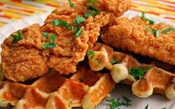 What would Sunday Funday be without chicken and waffles?
