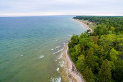 Lake Michigan Shoreline from Above