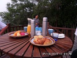 Early morning hike through rain forest to have breakfast overlooking South China Sea