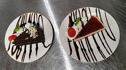 Cheesecake y Queque de chocolate!