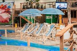 Lagoon side deck chair seating