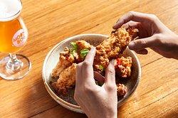 Crispy chicken spare ribs