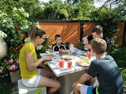 we can have breakfast in garden tables also