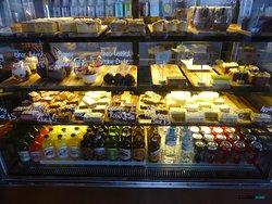 Yummy cake display.