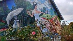 The beautiful wall mural