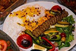Kobedah Kebab with Rice