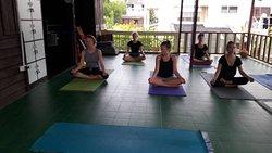 Yoga studio upstairs
