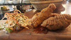 Southern Fried Chicken and Spiked Coleslaw