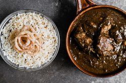 Indian Rock chicken curry with rise