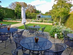 Garden and Patio at Dormy House Hotel - Cotswolds (16/Oct/19).