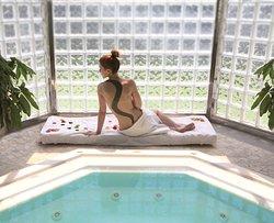 Relaxing at Pool