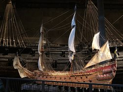 Model of the Vasa as it would have looked originally