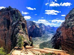 Angel's landing is a rewarding and challenging hike! Bring plenty of water, sunscreen and snacks. Have good tread on shoes and pay attention as you get closer to the summit as the climb up gets harder before you reach the top!