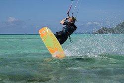 Kite surfing at Secret Kite Camp