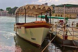 Take a private boat around the lake