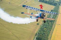 Embark on an amazing and exhilarating flying experience with our world renowned wingwalking team. With over 30 years experience, our private airfield and 100% safety record, why go anywhere else?