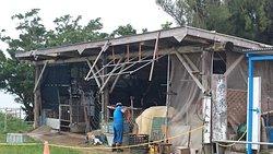 水牛の小屋。