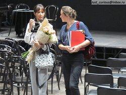 Звезда французского балета Изабель Герен (Isabelle Guérin) и организаторы встречи в музее Бахрушина