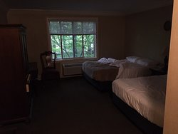 View from window is stunning, but the room itself is dark and musty with little to no adornment.  It was very clean though.