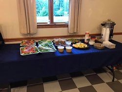 Salads and appetizers for wedding guests